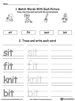 IT Word Family Connect, Trace and Write