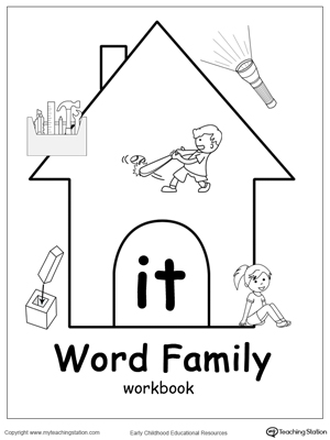 IT Word Family Workbook for Kindergarten | MyTeachingStation.com