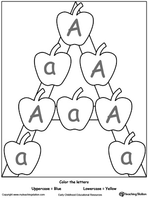 picture about Upper and Lowercase Letters Printable known as Fully grasp Uppercase and Lowercase Letter A