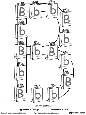 Recognize Uppercase and Lowercase Letter B