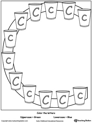Printables Letter C Worksheets Preschool recognize the sound of letter c myteachingstation com uppercase and lowercase c