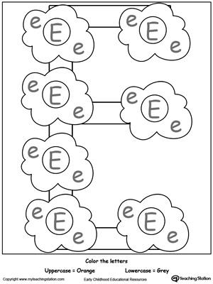 letter e alphabet flash cards for preschoolers. Black Bedroom Furniture Sets. Home Design Ideas