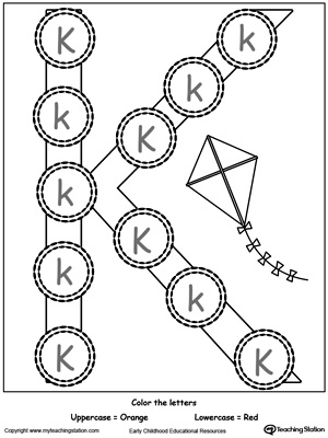 Worksheets Letter K Worksheet beginning sound of the letter k myteachingstation com recognize uppercase and lowercase k