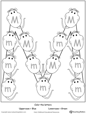 Number Names Worksheets : letter m activities for kindergarten ...