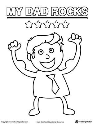 Fathers Day Card Superhero Outfit Myteachingstationcom - super dad coloring pages