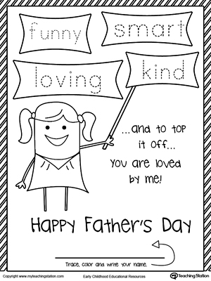 Happy Father's Day Card from Daughter. FUNNY, SMART, LOVING and KIND.