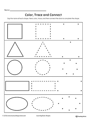 Learning Basic Shapes: Color, Trace, and Connect ...