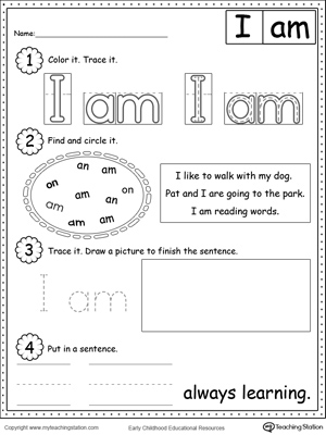 math worksheet : learning sight word he  myteachingstation  : Sight Word Worksheets Kindergarten