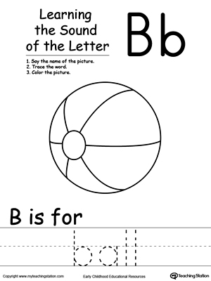 Learning Beginning Letter Sound: B