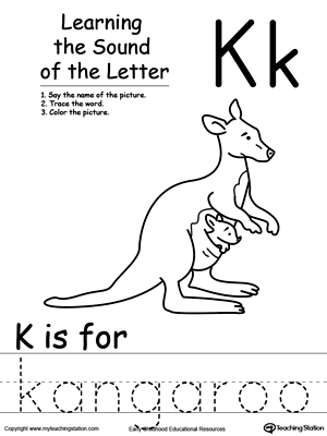 Learning Beginning Letter Sound: K
