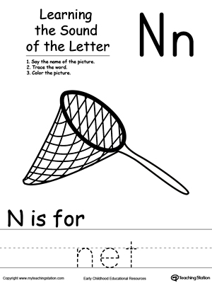 Number Names Worksheets : letter n activities for kindergarten ...