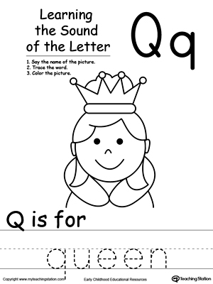 Learning Beginning Letter Sound: Q