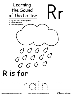 math worksheet : learning beginning letter sound r  myteachingstation  : Kindergarten Letter Sound Worksheets