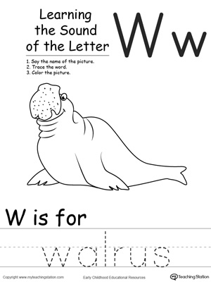 Learning Beginning Letter Sound: W | MyTeachingStation.com