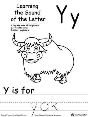 Learning Beginning Letter Sound: Y