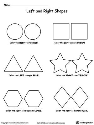 math worksheet : left and right shapes  myteachingstation  : Maths Shape Worksheets