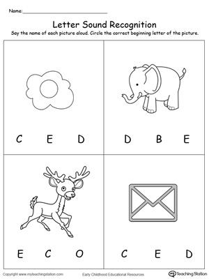 letter and sound recognition beginning letter sound phonics worksheets letters alphabet 7465