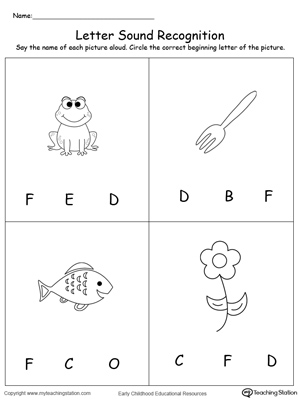 math worksheet : matching uppercase and lowercase letters f through j  : Kindergarten Letter Sound Worksheets