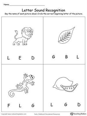 Printables Letter L Worksheets For Preschool writing uppercase letter l myteachingstation com recognize the sound of l