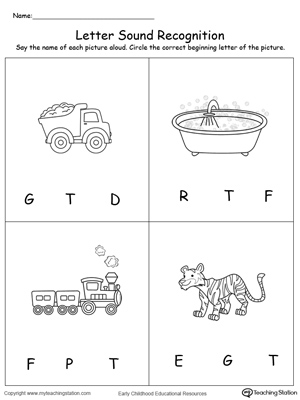 math worksheet : uppercase beginning letter sound p m r t s  myteachingstation  : Kindergarten Letter Sound Worksheets