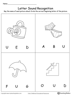 Recognize the sound of the letter u myteachingstation recognize the sound of the letter u downloadfree worksheet altavistaventures Images