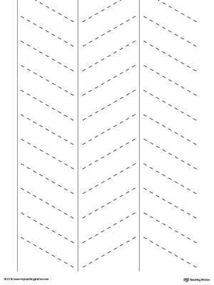 Trace diagonal lines in this fine motor skills preschool worksheet.