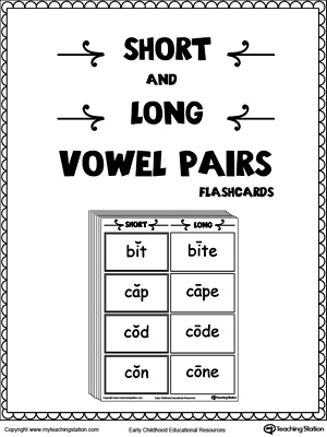Short and Long Vowel Pairs Flashcards