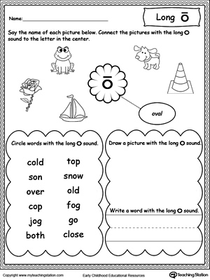 math worksheet : long o sound worksheet  myteachingstation  : Letter O Worksheets Kindergarten