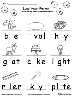 Long Vowel Review Write Missing Vowel Part Ii Myteachingstation