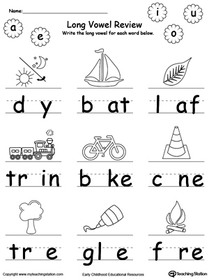 Printables Long Vowel Worksheets short vowel review write missing myteachingstation com long vowel