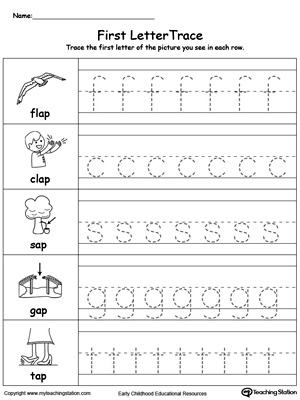 Lowercase Letter Tracing: AP Words