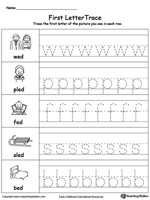ED word family lowercase letter tracing. Practice writing lowercase letters in this printable worksheet.