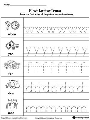 Lowercase Letter Tracing: EN Words