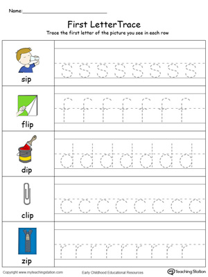 Lowercase Letter Tracing: IP Words in Color