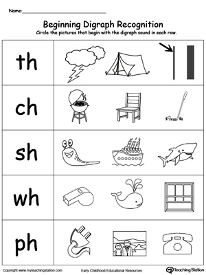 Beginning Digraph Sound Recognition WH | MyTeachingStation.com