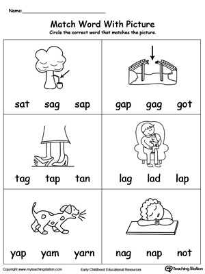 Match Word with Picture: AP Words. Identifying words ending in  –AP by matching the words with each picture.