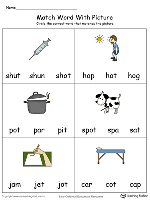 Match Word with Picture: OT Words in Color