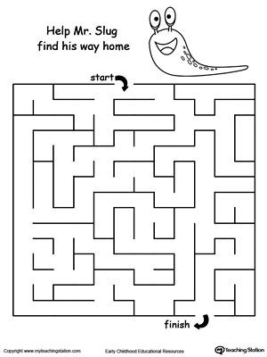 Boost fine motor skills and develop their concept of direction with this printable slug maze.