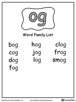 OG Word Family List