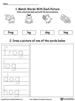 og word family phonics and writing practice. Black Bedroom Furniture Sets. Home Design Ideas