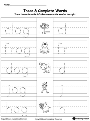 og word family workbook for kindergarten. Black Bedroom Furniture Sets. Home Design Ideas