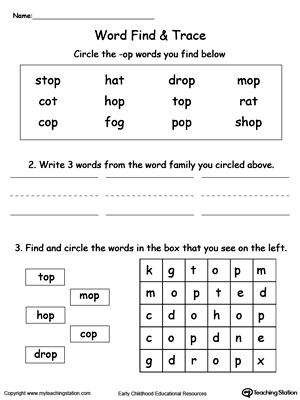 OP Word Family Find and Trace