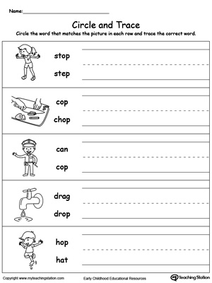 Build vocabulary, word-sound recognition and practice writing with this OP Word Family worksheet.