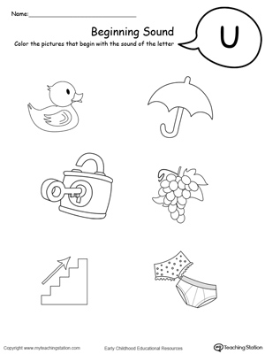 Beginning sound of the letter u myteachingstation beginning sound of the letter u downloadfree worksheet ibookread
