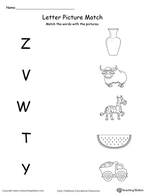 Letter Z Printable Alphabet Flash Cards For Preschoolers