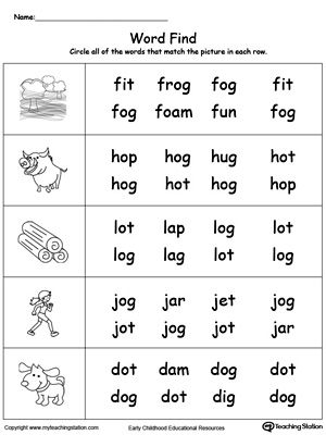 OG Word Family Workbook for Kindergarten | MyTeachingStation.com