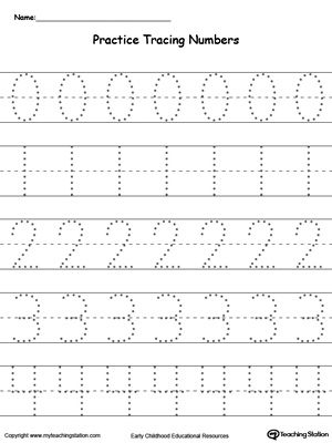 Number Names Worksheets number practice writing : Practice Writing Numbers 5-9 | MyTeachingStation.com