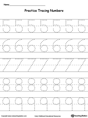image about Printable Tracing Numbers identified as Kindergarten Crafting Figures Printable Worksheets