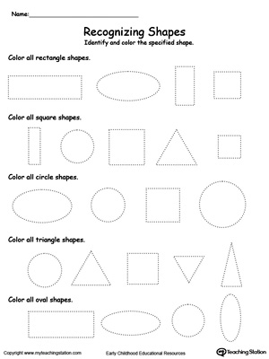 Number Names Worksheets shape worksheets for preschoolers : Drawing a Oval Shape | MyTeachingStation.com