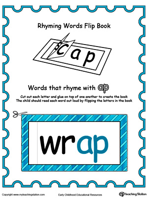 Printable Rhyming Words Flip Book AP in Color